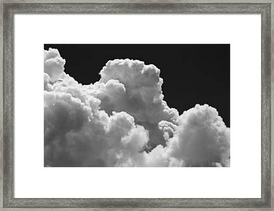 Black And White Sky With Building Storm Clouds Fine Art Print Framed Print
