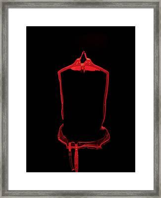 Blood Bag Framed Print by Tek Image