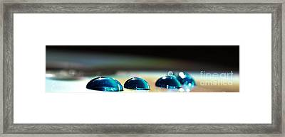 Framed Print featuring the photograph Blue Drops by Sylvie Leandre