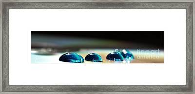 Blue Drops Framed Print by Sylvie Leandre