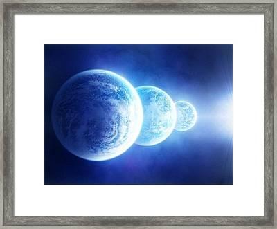 3 Blue Moons Framed Print by Eileen Szydlowski