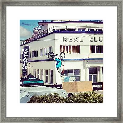 Bmx O Marisquiño 2011 #bmx Framed Print