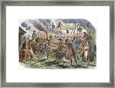 Boston: Stamp Act Riot, 1765 Framed Print by Granger