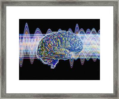 Brain, Conceptual Computer Artwork Framed Print by Mehau Kulyk