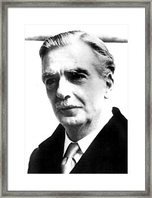 British Prime Minister Anthony Eden Framed Print by Everett
