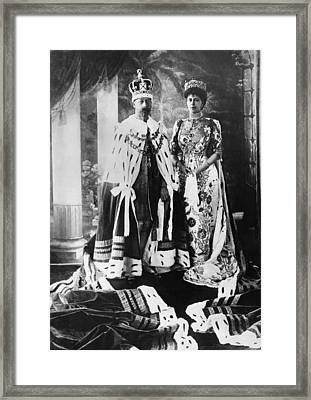 British Royalty. King George V Framed Print by Everett
