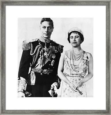 British Royalty. King George Vi Framed Print by Everett