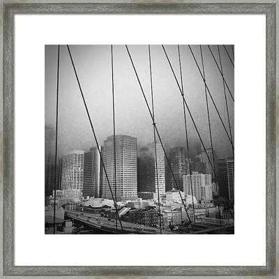 Brooklyn Bridge Framed Print by Eli Maier