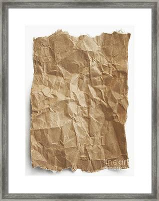 Brown Paper Framed Print by Blink Images