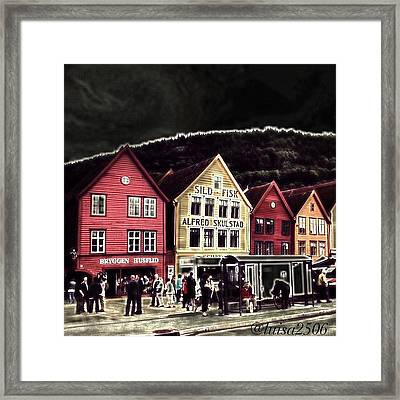 Bryggen Framed Print