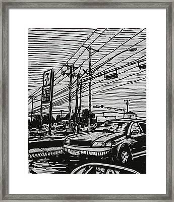 Burnet Road Framed Print