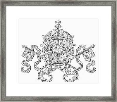 Calligraphy Crown Framed Print by Granger
