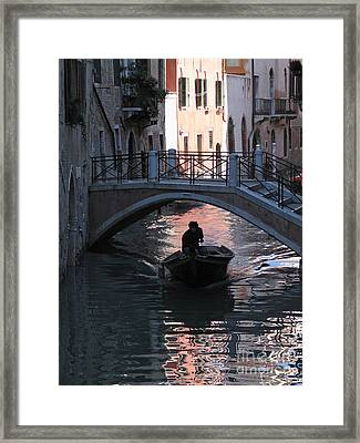 Canal. Venice Framed Print