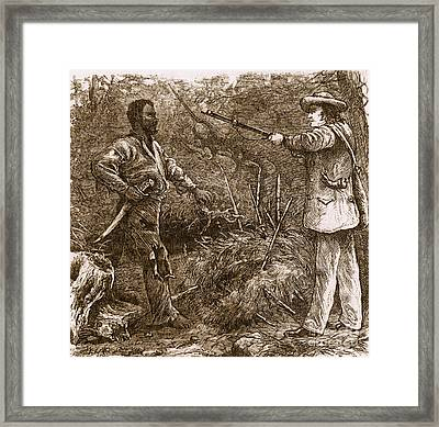 Capture Of Nat Turner, American Rebel Framed Print by Photo Researchers