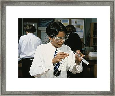 Carbon Dioxide Test Framed Print by Andrew Lambert Photography