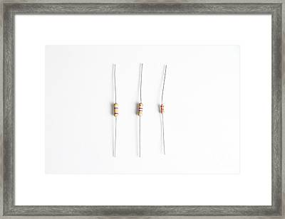 Carbon Film Resistors Framed Print