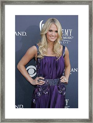 Carrie Underwood At Arrivals Framed Print