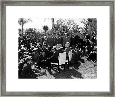 Casablanca Conference Framed Print by Granger
