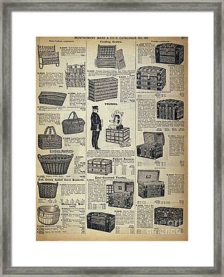 Catalog Page, C1900 Framed Print by Granger