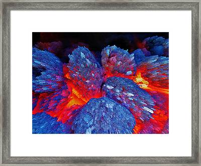 Charcoal Fire Framed Print