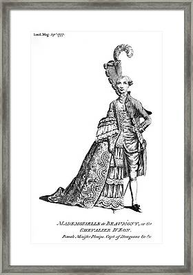 Charles Deon De Beaumont Framed Print by Granger