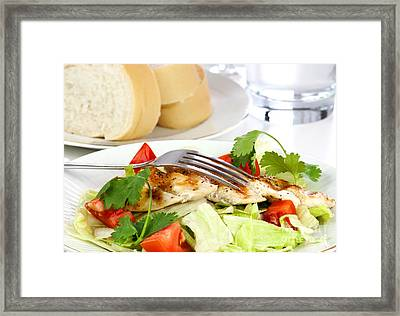 Chicken Salad Framed Print by Blink Images