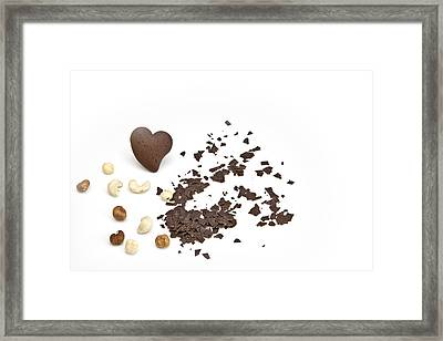 Chocolate Heart Framed Print