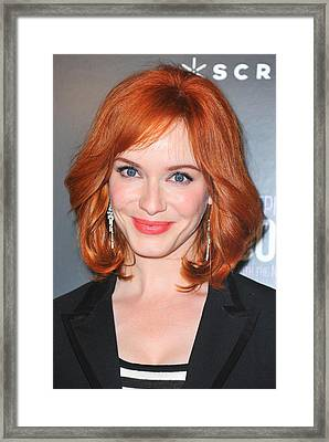 Christina Hendricks At Arrivals Framed Print