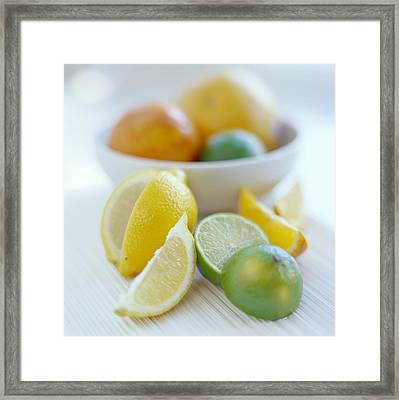 Citrus Fruits Framed Print by David Munns