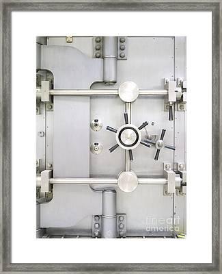 Closed Bank Vault Door Framed Print by Adam Crowley