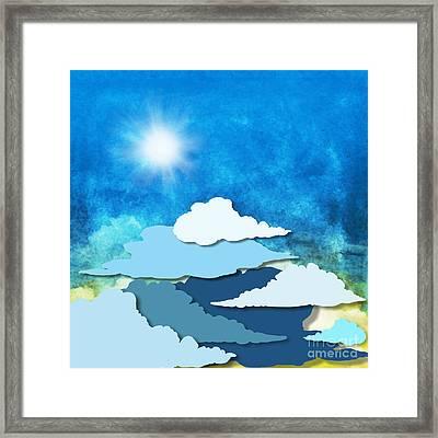 Cloud And Sky Framed Print by Setsiri Silapasuwanchai