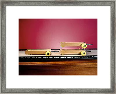 Collision Experiment Framed Print by Andrew Lambert Photography