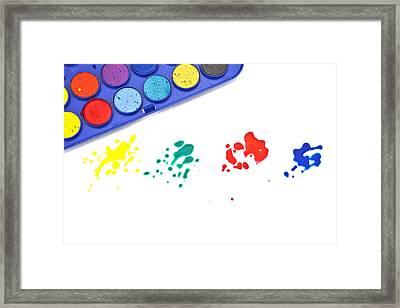 Color Splash Framed Print by Joana Kruse
