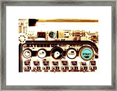 Computer Circuit Board Framed Print by Pasieka