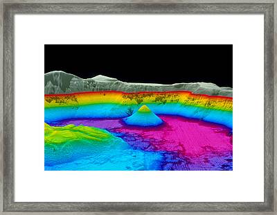 Crater Lake Framed Print by Us Geological Survey