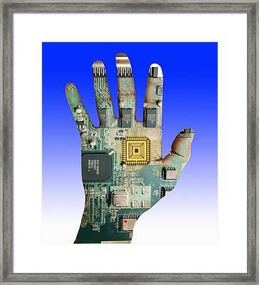 Cybernetics And Robotics Framed Print by Victor De Schwanberg