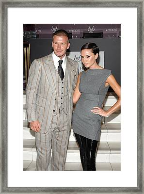 David Beckham Wearing A Tom Ford Suit Framed Print by Everett