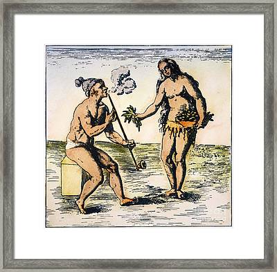 De Bry: Florida Native Americans Framed Print
