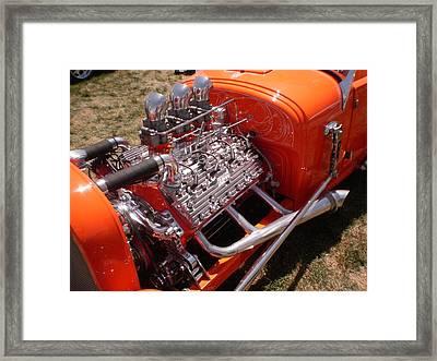 3 Deuces Framed Print by Trent Mallett