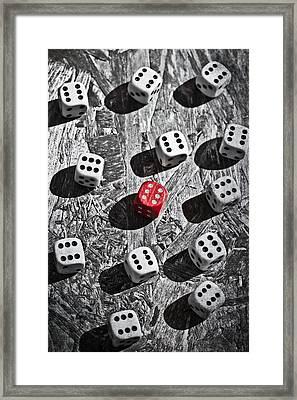 Dice Framed Print by Joana Kruse