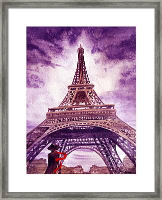 Eiffel Tower Paris Framed Print by Irina Sztukowski