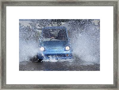 Electric Car Framed Print by Volker Steger
