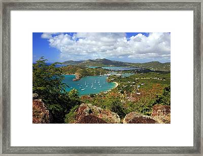 English Harbor Antigua Framed Print by Sophie Vigneault