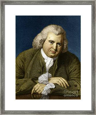 Erasmus Darwin, English Polymath Framed Print by Science Source