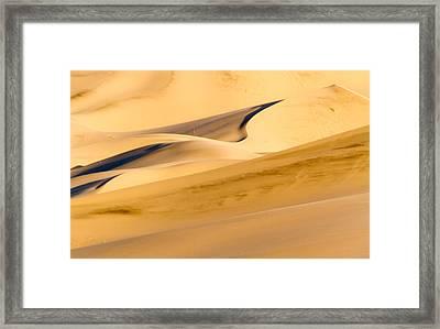 Eureka Dunes At Sunrise Framed Print