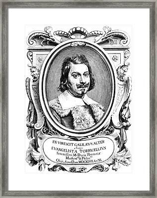Evangelista Torricelli, Italian Framed Print by Science Source