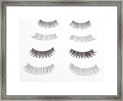False Eyelashes Framed Print by Tek Image