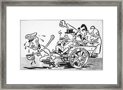 F.d. Roosevelt Cartoon Framed Print