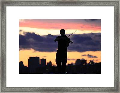Fiddler On The Roof Framed Print by Nina Mirhabibi