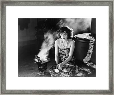 Film Still: Fortune Telling Framed Print by Granger